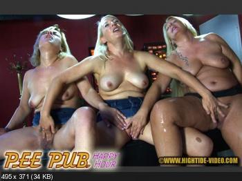 Hightide (Ella, Gina Blonde, Rosella) PEE PUB - HAPPY HOUR [HD 720p] Pee, Lesbians