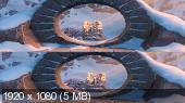 Без черных полос (на весь экран) Смолфут 3D / Smallfoot 3D ( by Amstaff) Вертикальная анаморфная стереопара