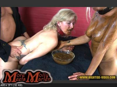 Molly, Marlen, 1 male - MORE MOLLY MEETS MARLEN [Hightide / 964 MB] HD 720p (Sex Scat, Blowjob, Lesbians)