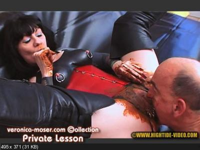 Veronica Moser, 1 male - VM63 - PRIVATE LESSON [Hightide / 1.16 GB] HD 720p (Femdom, Shitting)